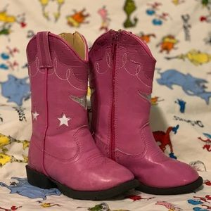Other - Pink Cowgirl Boots